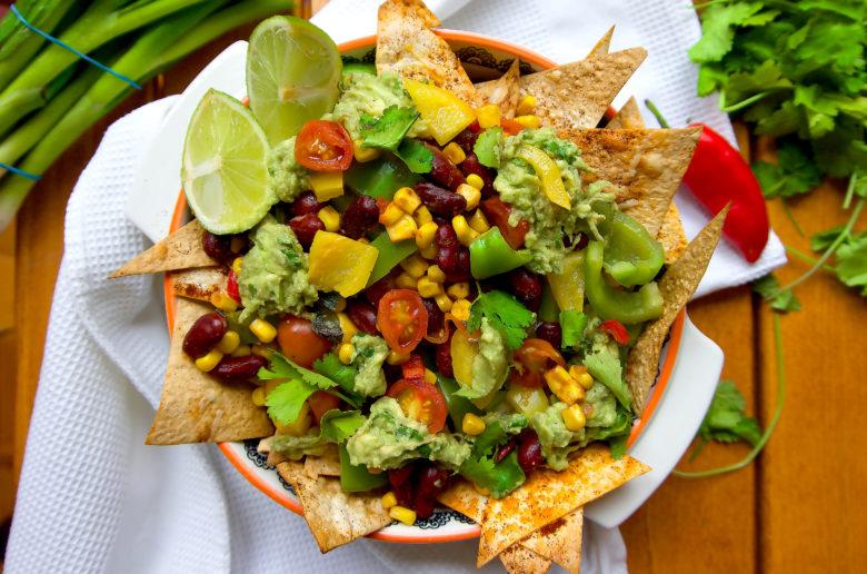 A high protein veggie nacho recipe.