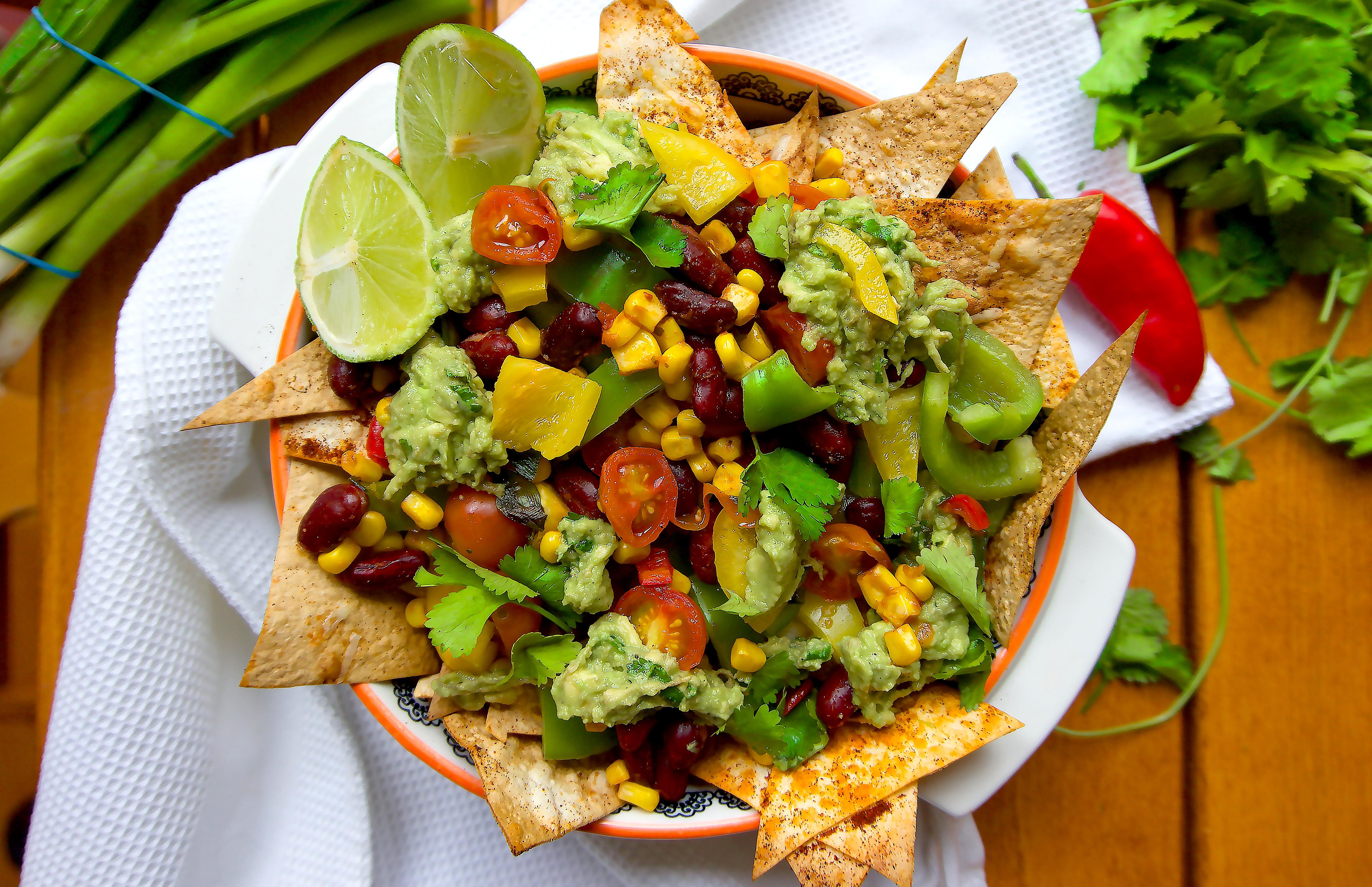 healthy veggie nachos hannah fitness