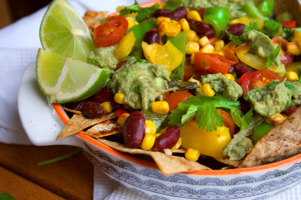 A high protein veggie nacho recipe.