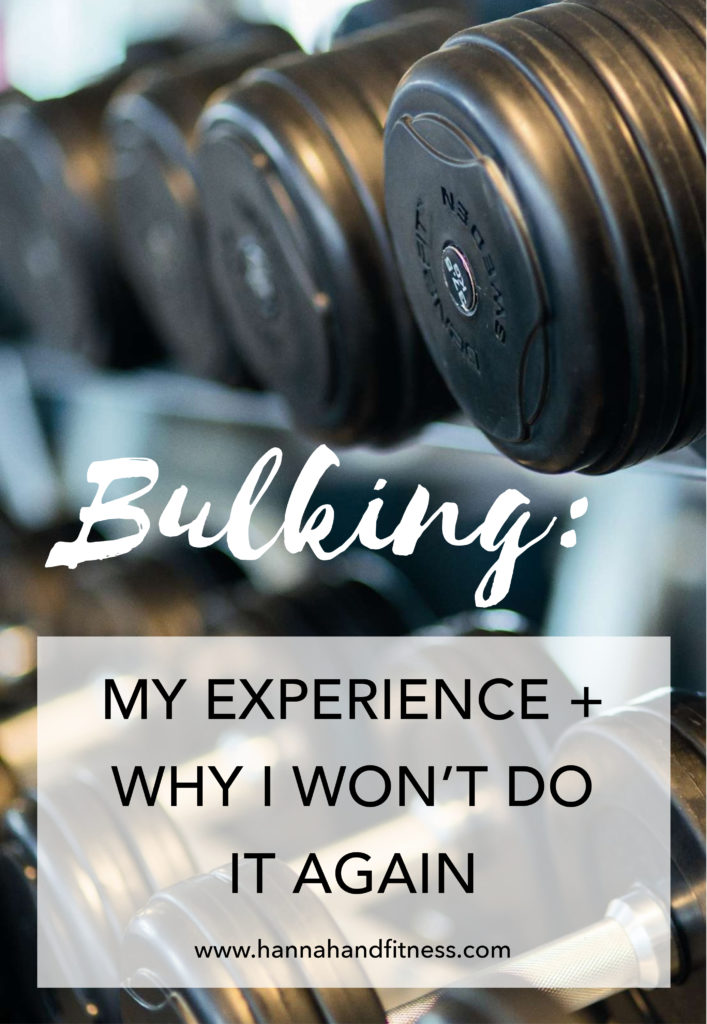 Bulking: My Experience And Why I Wont Do It Again
