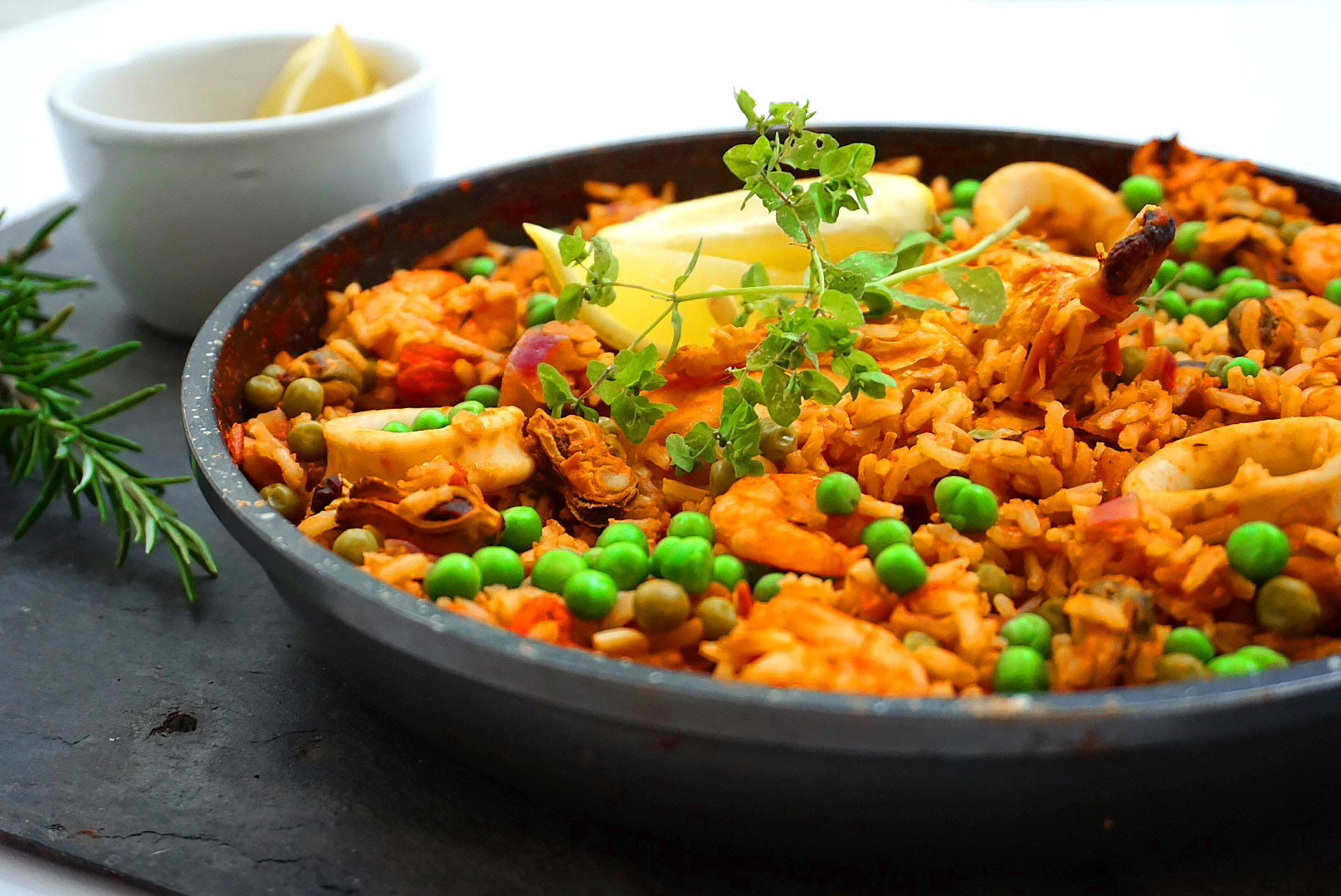 Healthy Chicken & Seafood Paella