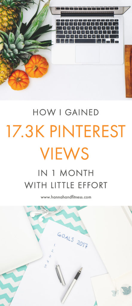 How I gained 17.3K Pinterest views in 1 month with little effort. A few of my top tips for Pinterest users for gaining insights and views. Plus, my main strategy for what took me from 1K views to 18.3K views in ONE MONTH.