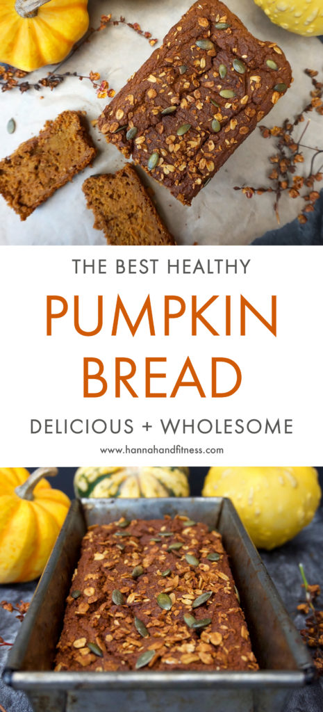 Healthy pumpkin bread. This delicious Autumn recipe is healthy, delicious and wholesome. It's packed full of fibre and healthy fats - creating a healthy recipe that's perfect for all the family.