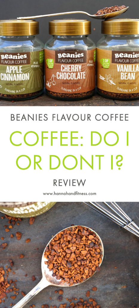 Coffee: Do I or Dont I? Beanies Flavour Coffee Review. An honest review on the Beanies Flavour Coffee Vitamin D collection including vanilla, apple cinnamon and cherry chocolate coffee. A healthy, yet delicious coffee sensation.