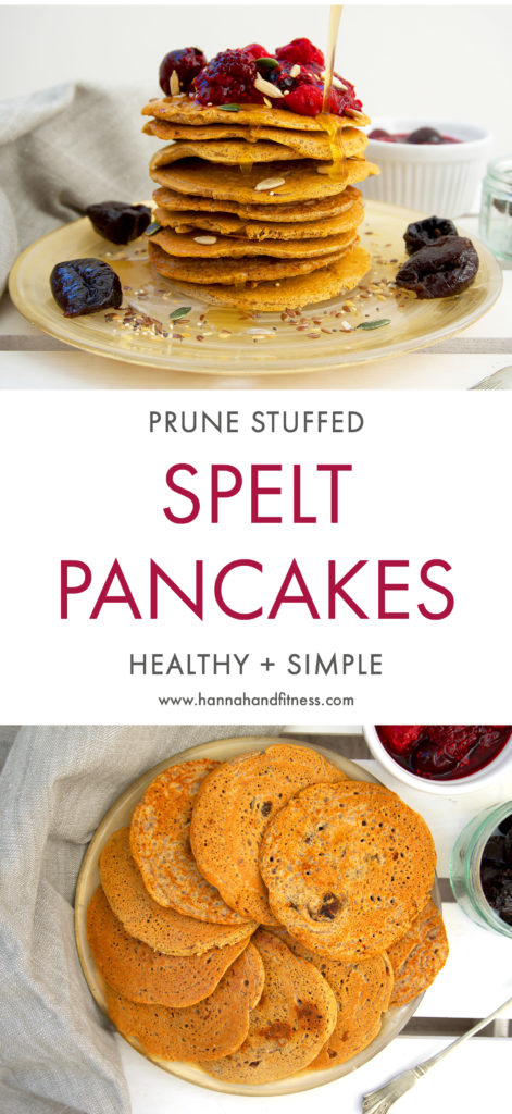 This recipe is packed full of fibre and tummy loving ingredients. These pancakes are wholesome, sweet, healthy and easy to make for a weekend breakfast!
